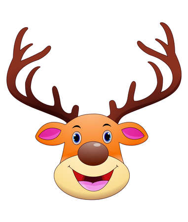 Deer head cartoon mascot