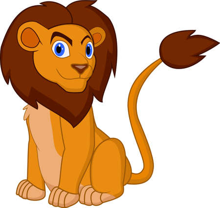 Cartoon lion pose