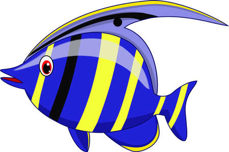 Cute fish cartoon Ilustração
