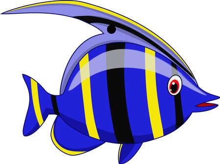 Cute fish cartoon Vectores