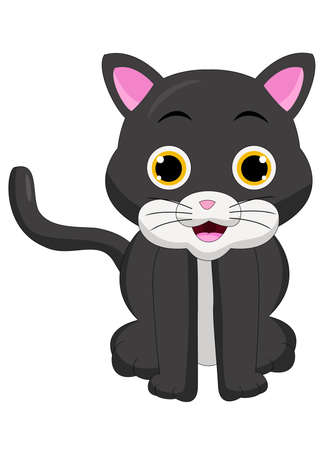 Cute Cat Cartoon Vetores
