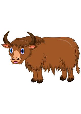 Cute yak cartoon Ilustrace