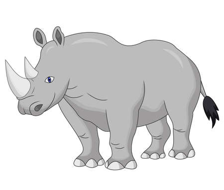 Cute Rhino cartoon Vectores