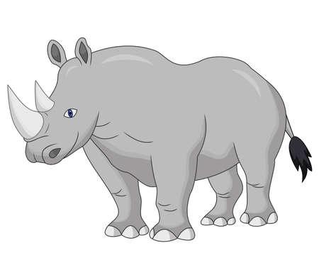 Süße Nashorn-Cartoon