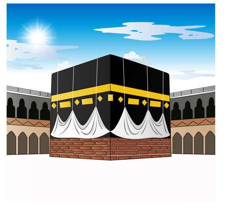 Kaaba Mecca Saudi Arabia 일러스트