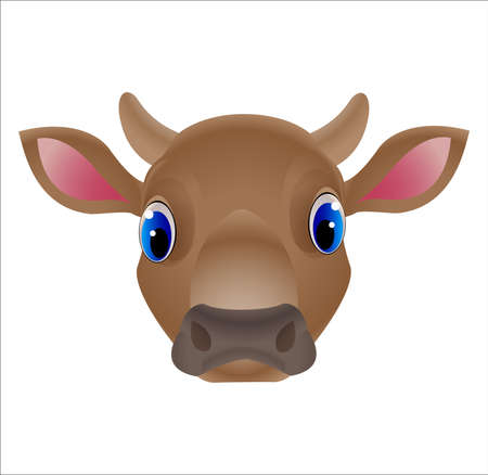 Vector of cow face design on white background Vettoriali