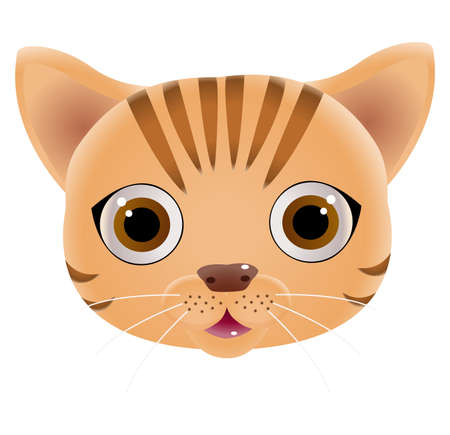 Cute cat face. Vector illustration 向量圖像