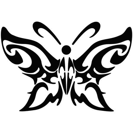 Illustration of black butterfly vector icon