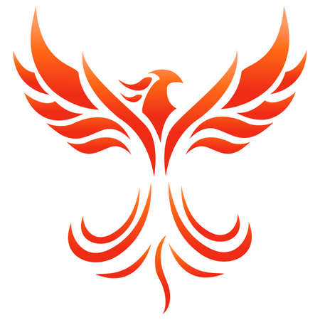Vector illustration of Phoenix Fire Logo Illustration