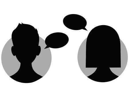 Illustration of People Chat Icon Illustration
