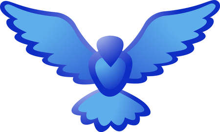 Illustration of Blue bird icon