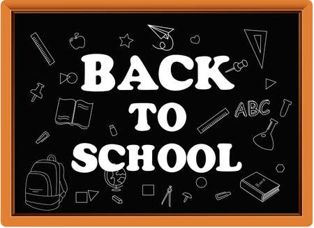 Back to school with school items and elements. background and poster for back to school
