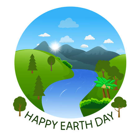 Go green earth day poster illustration