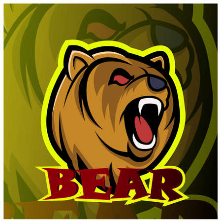 Bear head mascot logo design