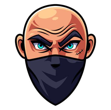 Bald man head esports Logo