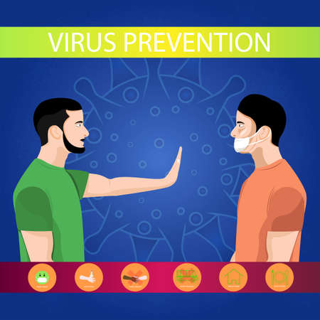 Illustration of corona virus preventation