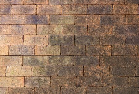 concrete surface finishing: old red brick wall texture