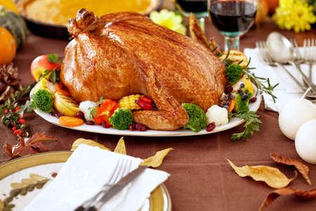 comida de navidad: Acción de gracias Turquía