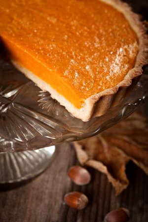 pumpkin pie: Thanksgiving pumpkin pie Stock Photo