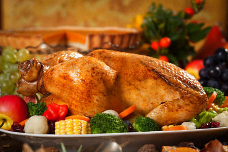 thanksgiving: Traditional Thanksgiving Dinner Stock Photo