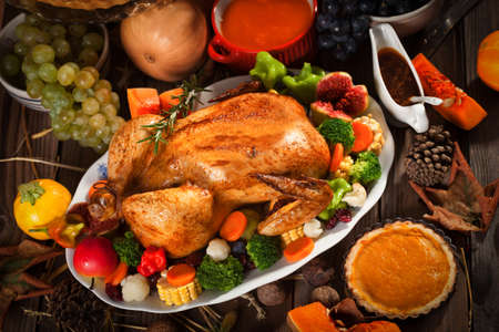 pavo: Cena tradicional de Acci�n de Gracias