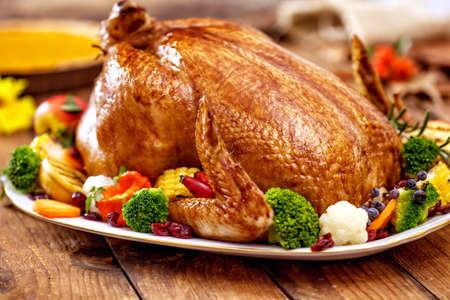 感謝祭の七面鳥料理 写真素材