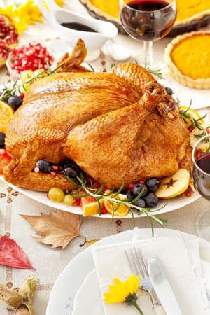 comida de navidad: La cena de Acción de Gracias Turquía