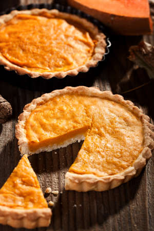 pumpkin pie: Homemade pumpkin pie