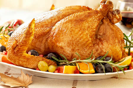 感謝祭ロースト七面鳥料理 写真素材