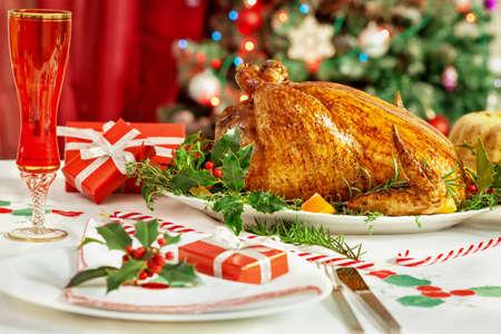 comida de navidad: Cuadro de Navidad Foto de archivo