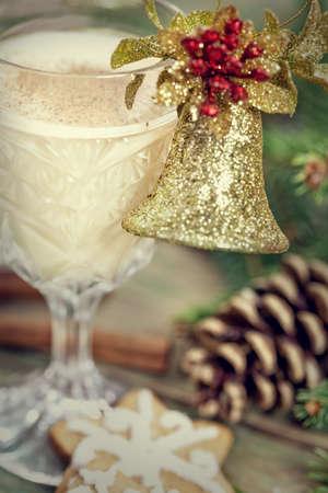 eggnog: Eggnog cocktail for Christmas