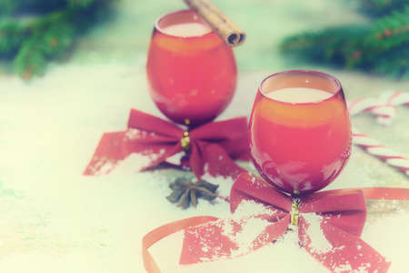 unsaturated: Christmas holiday eggnog punch - unsaturated colors vintage look Stock Photo