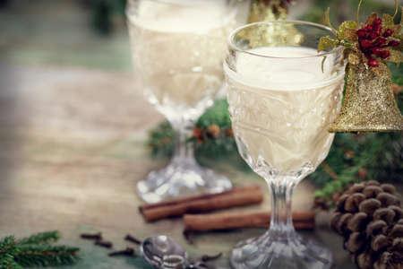 eggnog: Christmas cocktail - traditional eggnog