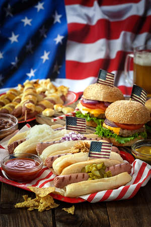 American holiday 4th of July - Picnic Table