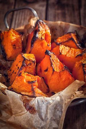 baked: Baked pumpkin Stock Photo