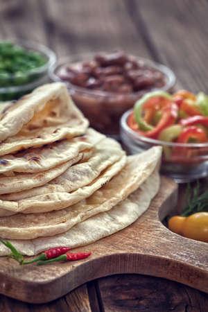 tortilla wrap: Mexican tortilla wrap with healthy vegetables