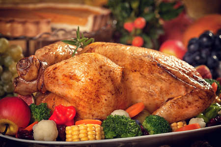 Thanksgiving Turkey dinner table setting photo & Thanksgiving Turkey Dinner Table Setting Stock Photo Picture And ...