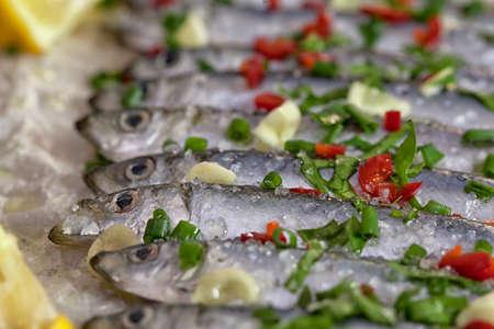 Marinated sardines with fresh herbs