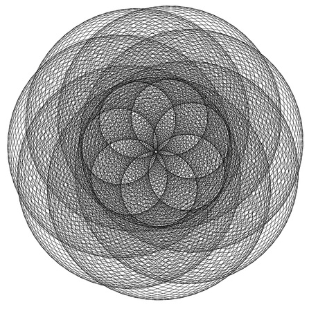 Sacred geometry: Seven pedals flower