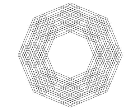 Sacred geometry: fractal lines