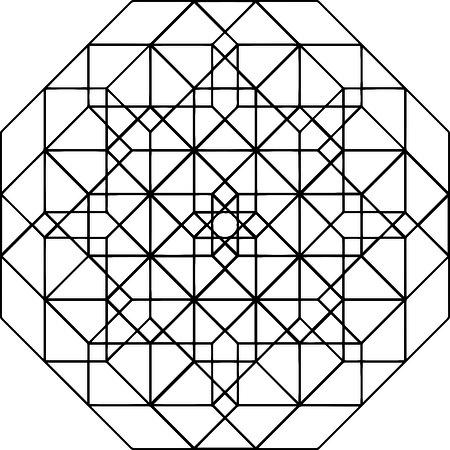 Sacred Geometry of Fractal star Ilustracja