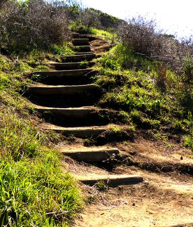Het pad van een heuvel Stockfoto