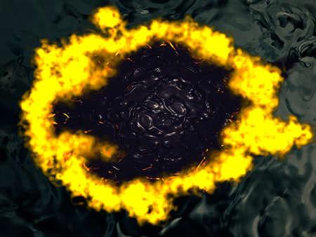 petrolium: Burning water with petrolium inside