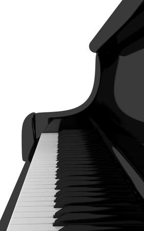ivories: Piano keyboard close up, 3d render Stock Photo