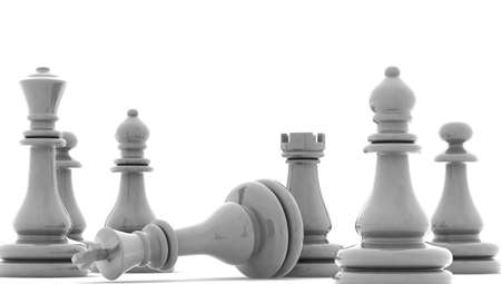 outwit: Chess pieces, 3d render Stock Photo