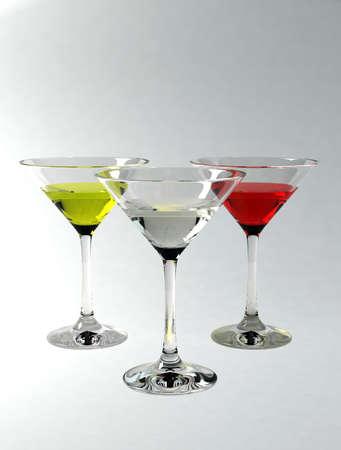 brewage: Martini glasses isolated on grey background
