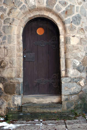 Old castle door photo