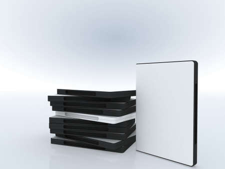 DVD cases , software presentation , place your text or image on the cover