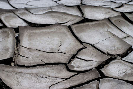 dryness: Dirty and cracked earth Stock Photo