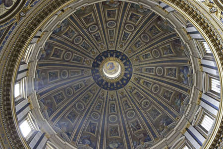 Dome of St. Peters Basilica, Rome, Italy